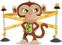 Ape Businessman Cartoon Vector Character AKA Bizzo - Under Construction 2