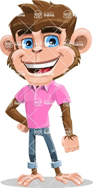 Ape Cartoon Vector Character AKA Dunc the Funky Monkey - Normal