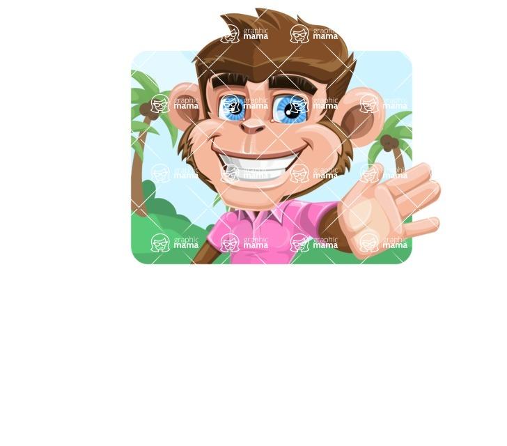 Ape Cartoon Vector Character AKA Dunc the Funky Monkey - Shape 1