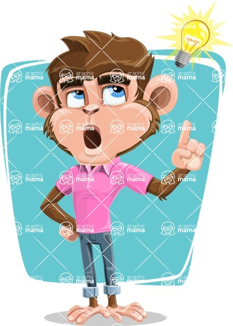 Ape Cartoon Vector Character AKA Dunc the Funky Monkey - Shape 8