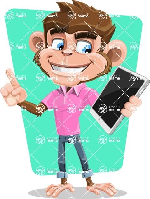 Ape Cartoon Vector Character AKA Dunc the Funky Monkey - Shape 10