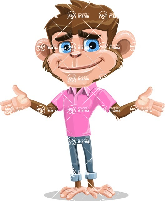 Ape Cartoon Vector Character AKA Dunc the Funky Monkey - Sorry