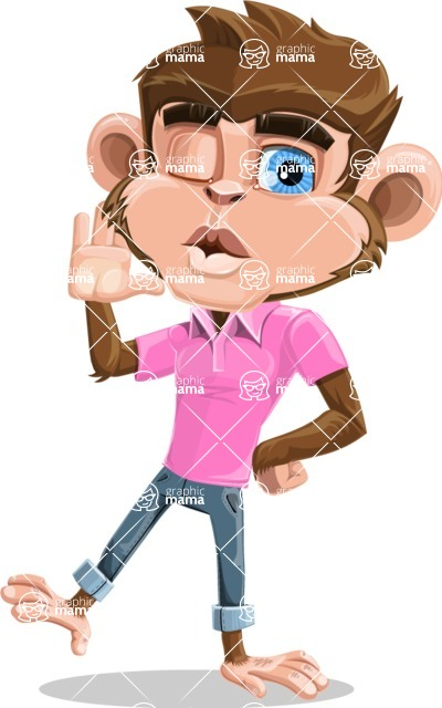 Ape Cartoon Vector Character AKA Dunc the Funky Monkey - Duckface