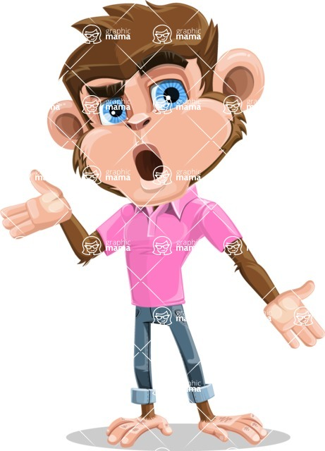 Ape Cartoon Vector Character AKA Dunc the Funky Monkey - Confused