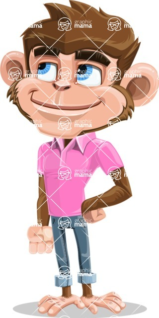 Ape Cartoon Vector Character AKA Dunc the Funky Monkey - Patient