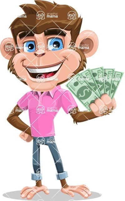 Ape Cartoon Vector Character AKA Dunc the Funky Monkey - Show me  the Money