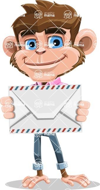 Ape Cartoon Vector Character AKA Dunc the Funky Monkey - Letter