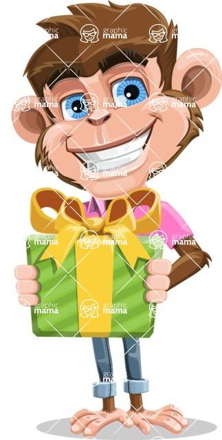 Ape Cartoon Vector Character AKA Dunc the Funky Monkey - Gift