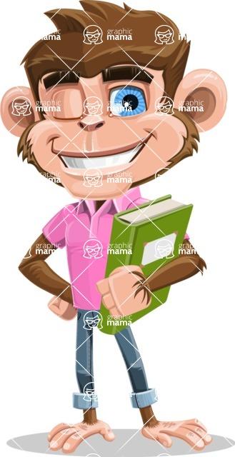 Ape Cartoon Vector Character AKA Dunc the Funky Monkey - Book 3