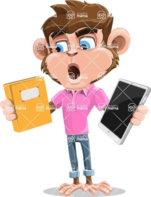 Ape Cartoon Vector Character AKA Dunc the Funky Monkey - Book and iPad