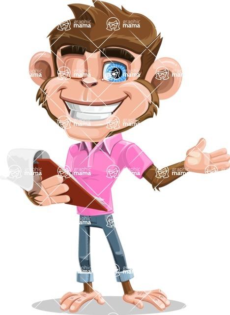 Ape Cartoon Vector Character AKA Dunc the Funky Monkey - Notepad 3