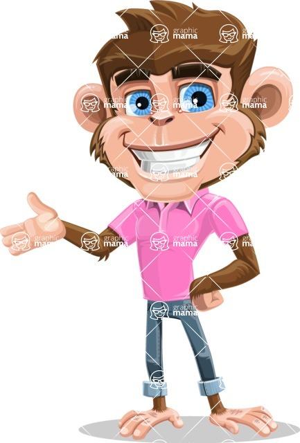 Ape Cartoon Vector Character AKA Dunc the Funky Monkey - Showcase 2