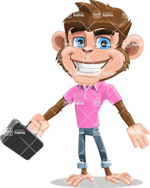 Ape Cartoon Vector Character AKA Dunc the Funky Monkey - Briefcase 1