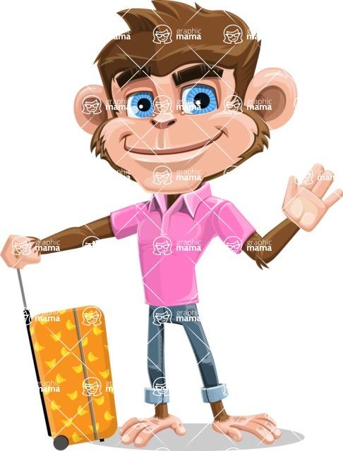 Ape Cartoon Vector Character AKA Dunc the Funky Monkey - Travel 1