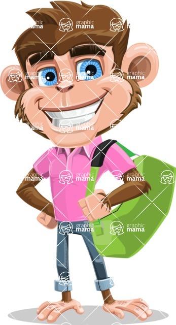 Ape Cartoon Vector Character AKA Dunc the Funky Monkey - Travel 2