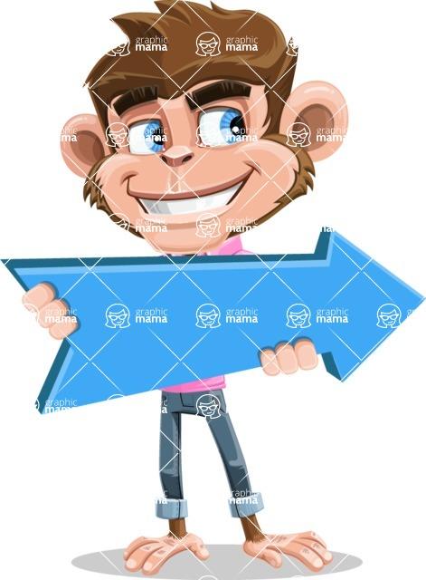 Ape Cartoon Vector Character AKA Dunc the Funky Monkey - Pointer 2