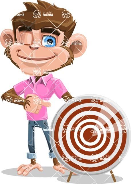 Ape Cartoon Vector Character AKA Dunc the Funky Monkey - Target
