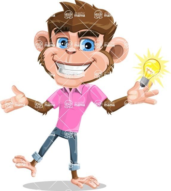 Ape Cartoon Vector Character AKA Dunc the Funky Monkey - Idea 1