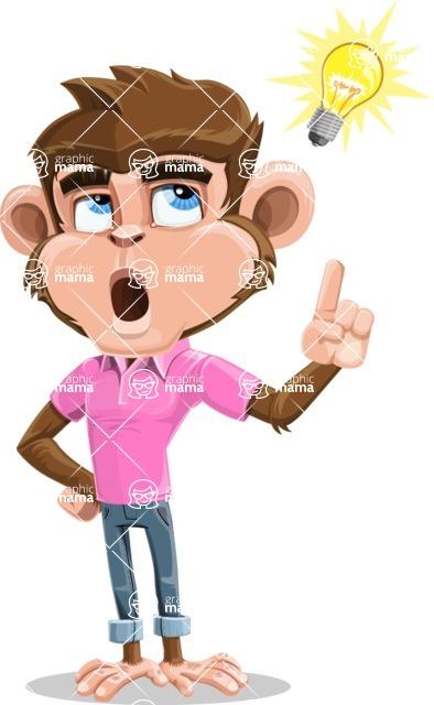 Ape Cartoon Vector Character AKA Dunc the Funky Monkey - Idea 2