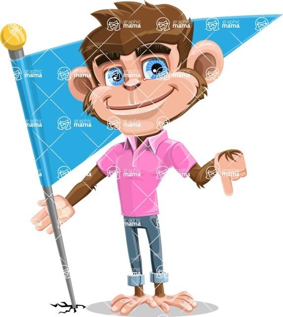 Ape Cartoon Vector Character AKA Dunc the Funky Monkey - Checkpoint