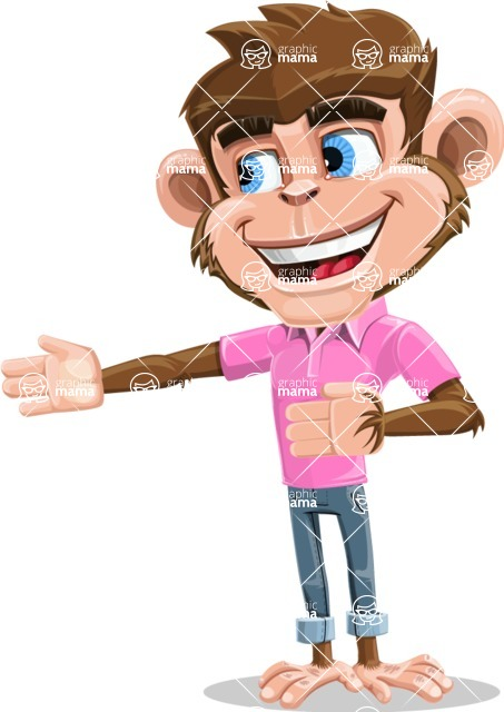 Ape Cartoon Vector Character AKA Dunc the Funky Monkey - Show 2