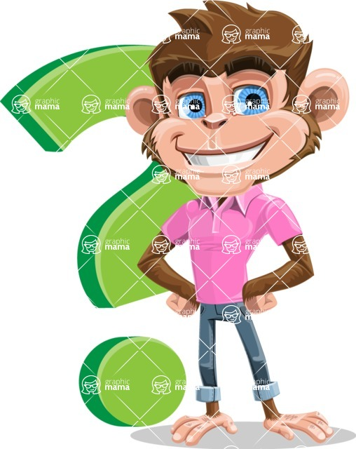 Ape Cartoon Vector Character AKA Dunc the Funky Monkey - Question