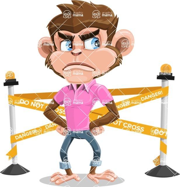 Ape Cartoon Vector Character AKA Dunc the Funky Monkey - Under Construction 2
