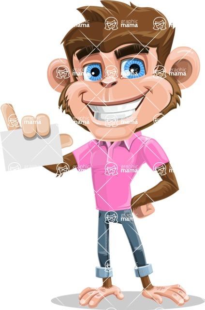 Ape Cartoon Vector Character AKA Dunc the Funky Monkey - Sign 1