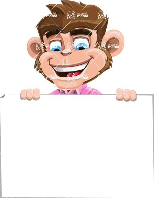 Ape Cartoon Vector Character AKA Dunc the Funky Monkey - Sign 6