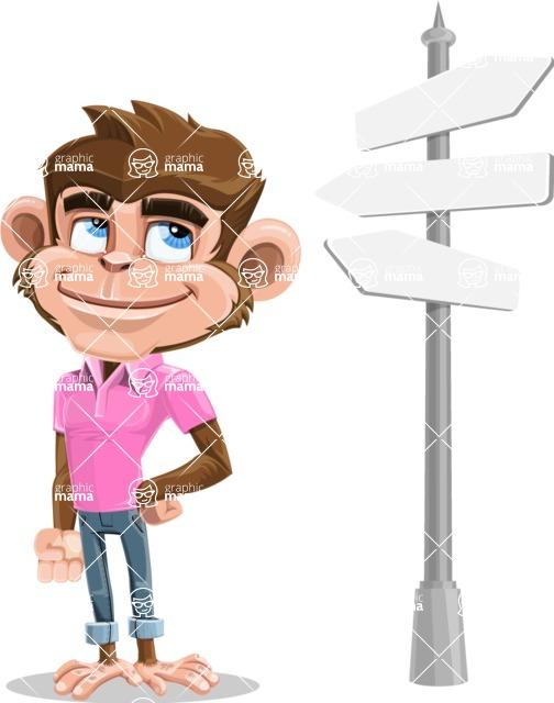 Ape Cartoon Vector Character AKA Dunc the Funky Monkey - Crossroad