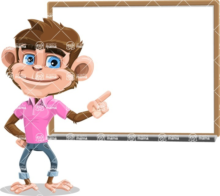 Ape Cartoon Vector Character AKA Dunc the Funky Monkey - Presentation 3