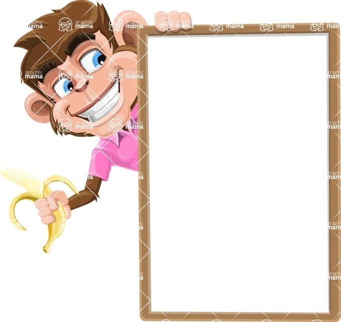 Ape Cartoon Vector Character AKA Dunc the Funky Monkey - Presentation 4