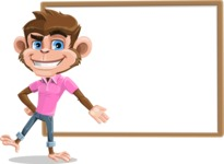 Ape Cartoon Vector Character AKA Dunc the Funky Monkey - Presentation 5