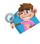 Ape Cartoon Vector Character AKA Dunc the Funky Monkey - Shape 3