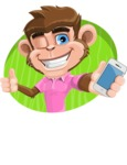 Ape Cartoon Vector Character AKA Dunc the Funky Monkey - Shape 4