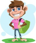 Ape Cartoon Vector Character AKA Dunc the Funky Monkey - Shape 6