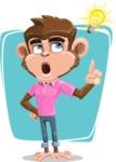 Ape Cartoon Vector Character AKA Dunc the Funky Monkey - Shape 8