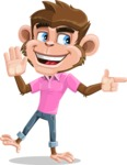 Ape Cartoon Vector Character AKA Dunc the Funky Monkey - Direct Attention 2