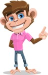 Ape Cartoon Vector Character AKA Dunc the Funky Monkey - Attention