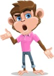 Ape Cartoon Vector Character AKA Dunc the Funky Monkey - Confused