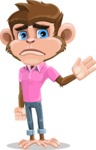 Ape Cartoon Vector Character AKA Dunc the Funky Monkey - Goodbye