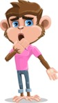 Ape Cartoon Vector Character AKA Dunc the Funky Monkey - Oops