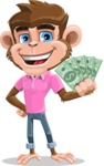Ape Cartoon Vector Character AKA Dunc the Funky Monkey - Show me  the Money