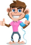 Ape Cartoon Vector Character AKA Dunc the Funky Monkey - Support