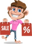 Ape Cartoon Vector Character AKA Dunc the Funky Monkey - Sale 2