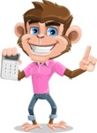 Ape Cartoon Vector Character AKA Dunc the Funky Monkey - Calculator