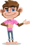 Ape Cartoon Vector Character AKA Dunc the Funky Monkey - Showcase