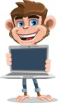 Ape Cartoon Vector Character AKA Dunc the Funky Monkey - Laptop 2