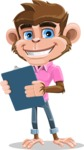 Ape Cartoon Vector Character AKA Dunc the Funky Monkey - Notepad 2