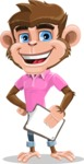 Ape Cartoon Vector Character AKA Dunc the Funky Monkey - Notepad 4